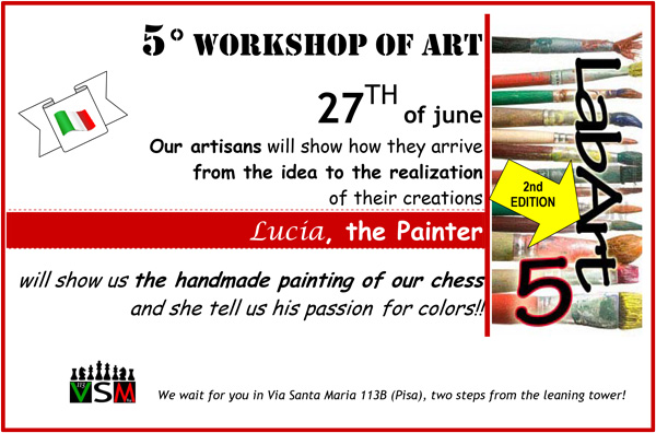 5LabArt 2nd edition: Lucia paints our chess in the shop!